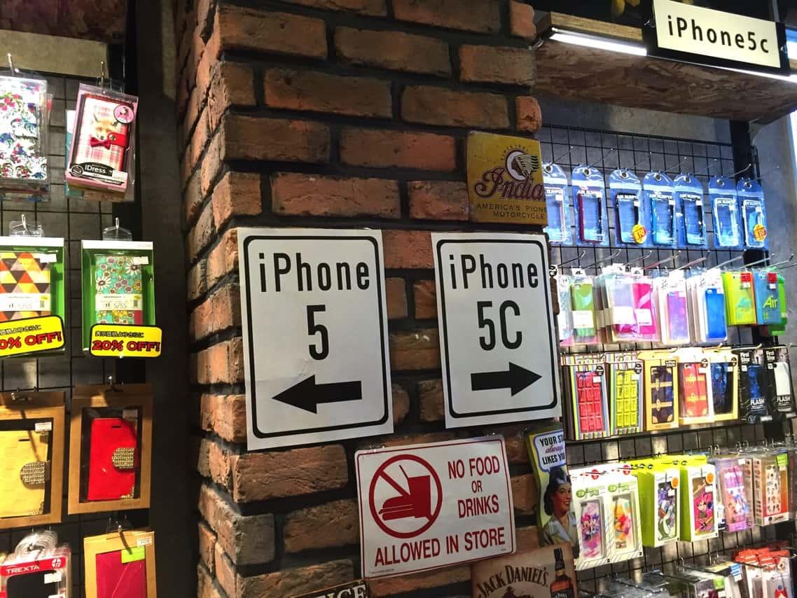 iPhone 5,5cのケース