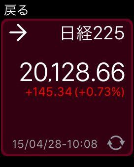 Apple Watch iSPEED 日経平均株価