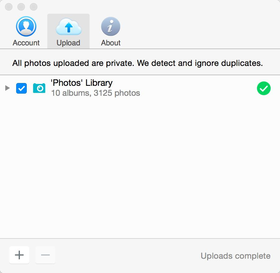 Flickr Uploadr Settings