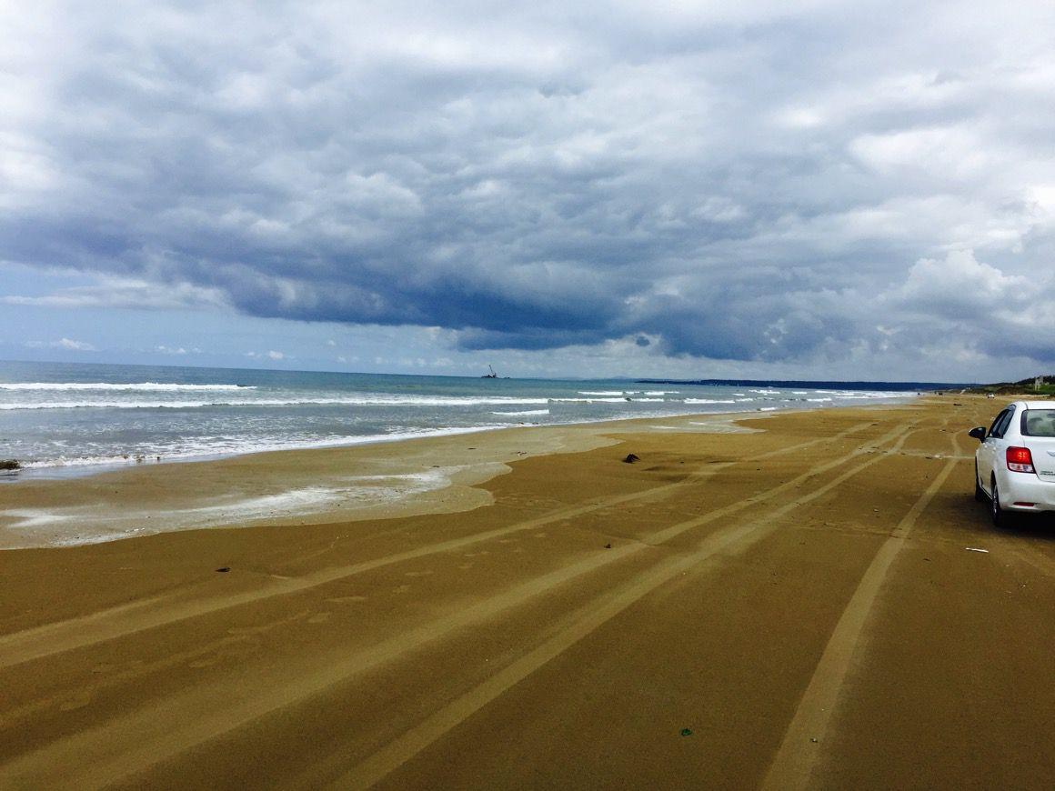 千里浜バーベキュー 砂浜