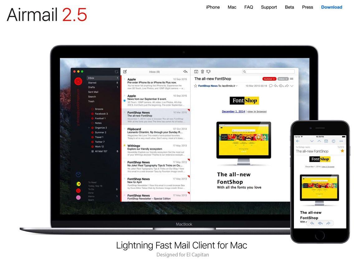 Macのメールアプリなら「Airmail」がオススメ!メールを使ったタスク管理に最適
